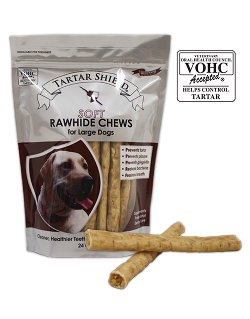 Tartar Shield Large Soft Rawhide Chews